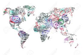 travel world map world map created with passport sts travel concept stock photo