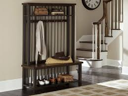 Coat Rack With Bench Seat Mudroom Entryway Bench And Coat Hanger Entry Hall Storage