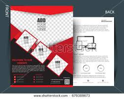 front back page brochure template flyer stock vector 679389673