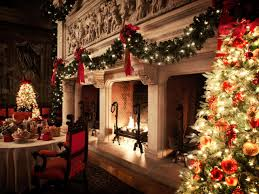 biltmore house decorated christmas house interior