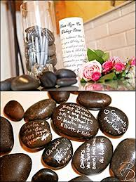 wedding wishing stones wishing guest book alternative 100 set