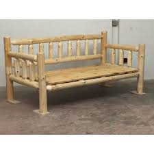 Pine Furniture Stores Rustic Pine Log Daybed The Log Furniture Store