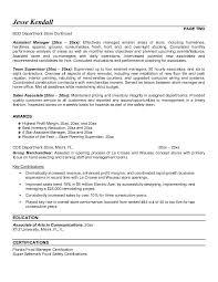 management cover letter resume