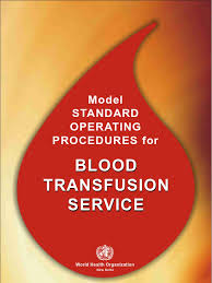 who blood bank sops blood donation blood type