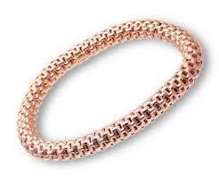 pandora link bracelet images Citerna rose gold plated silver brick link stretch bracelet 19 cm jpg