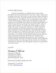 Letter Of Recommendation Teacher Template Teacher Recommendation Letter Sample Sample Letter With Lucy Jordan