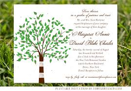 tree themed wedding cards on seeded paper green tree by