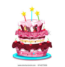 cute creative birthday cake vector stock vector 690585130