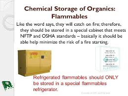 what should be stored in a flammable storage cabinet biological and chemical storage bio sciences chemicals ppt download