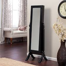Free Standing Jewelry Armoire With Mirror Amazon Com Jewelry Armoire Cheval Mirror Full Length Floor Free