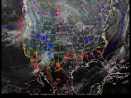 Surface Weather Map Lake Effect Snow