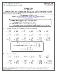 roots and the pythagorean theorem 7th 9th grade worksheet