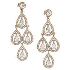 Pear Chandelier Carolee Gold Tone Pave Pear Chandelier Earrings In Metallic Lyst