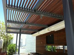 Wood Slat Ceiling System by Retractable Roof Systems
