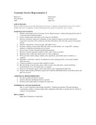 Resume Customer Service by Customer Service Description For Resume Resume For Your Job