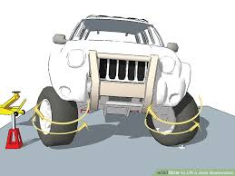 jeep liberty cartoon how to lift a jeep suspension 11 steps with pictures wikihow