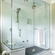 Bathroom Towel Shelves Bookshelves Tudor House Transitional Bathroom Towel Bar On Glass