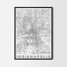 indianapolis gift map art prints and posters home decor gifts