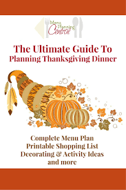 ready for thanksgiving this will help you get a complete menu plan