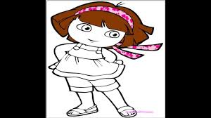 dora the explorer coloring pages dora coloring book youtube