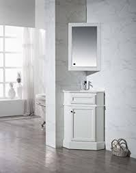 stufurhome ty 415pw modern hampton corner bathroom vanity with