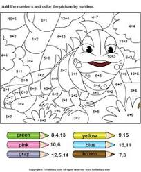 free printable color by number addition worksheet plenty more