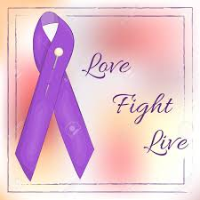 lavender ribbon lavender ribbon on abstract background for world cancer day