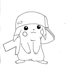 pokemon pikachu coloring pages free printable pikachu coloring
