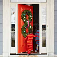 Red Ribbon Door Decorating Ideas Pretty Christmas Door Decorations
