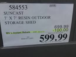 sheds outdoor storage sheds costco