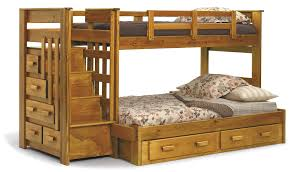 bunk beds kids wooden from centurion pine waxed single staircase