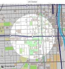 Map Of Blue Line Chicago by Map Of Building Projects Properties And Businesses Near The Uic