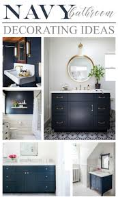 Blue Bathrooms Decor Ideas Best 25 Navy Bathroom Decor Ideas On Pinterest Navy Blue