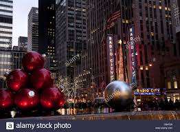 holiday christmas ornament display avenue of the americas nyc