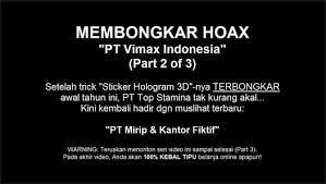 hoax 2 seribu wajah pt vimax indonesia video dailymotion