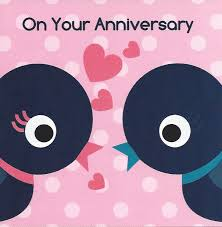 on your anniversary card two birds