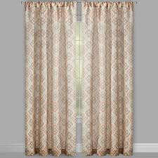 tuscany coral patterned window curtains set of 2 christmas tree