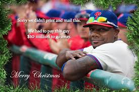 rejected holiday cards for philadelphia eagles sixers phillies