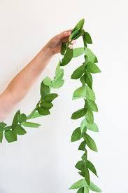 diy paper leaf garland paper leaves diy paper and garlands
