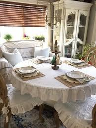 farmhouse style table cloth ruffled linen round tablecloth linen tablecloth linens and round