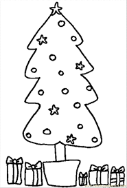 christmas tree coloring free trees coloring pages