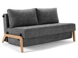 innovation living canapé lit design cubed wood noir convertible