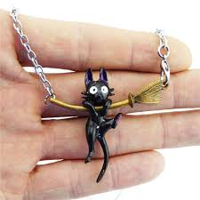black cat pendant necklace images Kiki 39 s delivery service jiji necklace black cat pendant japan jpg