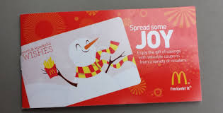 gift card book mcdonald s spread some coupon book replaces the