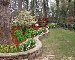 flower bed rock wall houzz