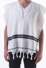 tallit katan tzitzit in wool with fringes tallit mishkan