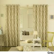 Yellow Grommet Curtain Panels by Aurora Home Wave Room Darkening Grommet Top 84 Inch Curtain Panel