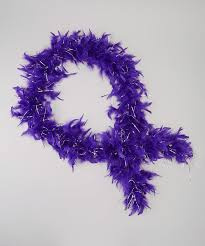purple feather feather boa wenchoice