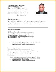 basic resume exles 2017 philippines filipino resume sle lovely formal resume format for ojt