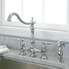 2 kitchen faucet kitchen faucet bridge bridge style 2 handle chrome kitchen faucet
